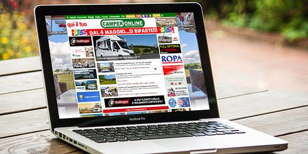 CamperOnLine sito web